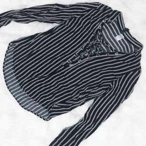 H&M Black and white striped blouse